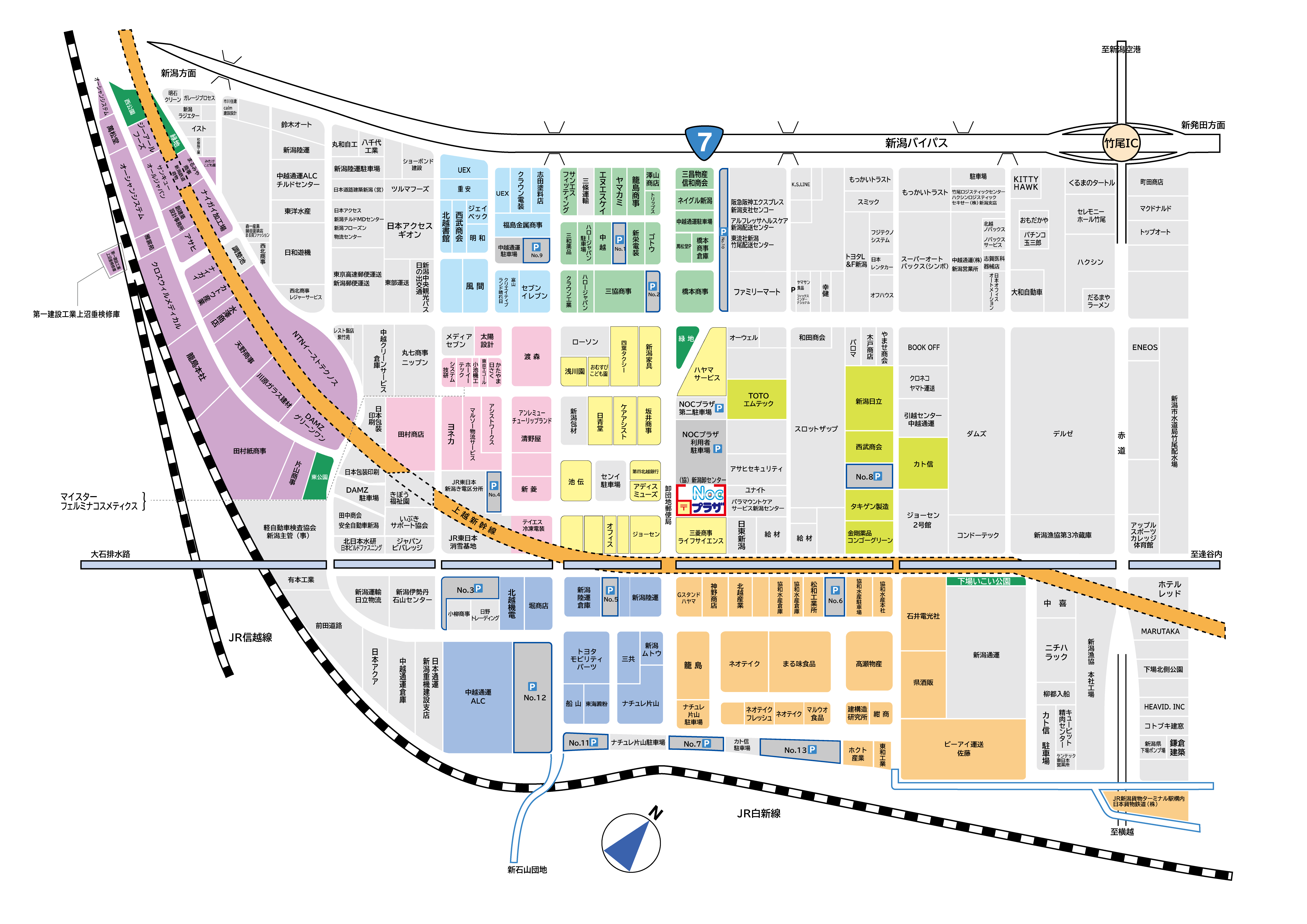 新潟卸センター地図