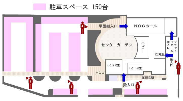 新潟卸センター駐車場地図