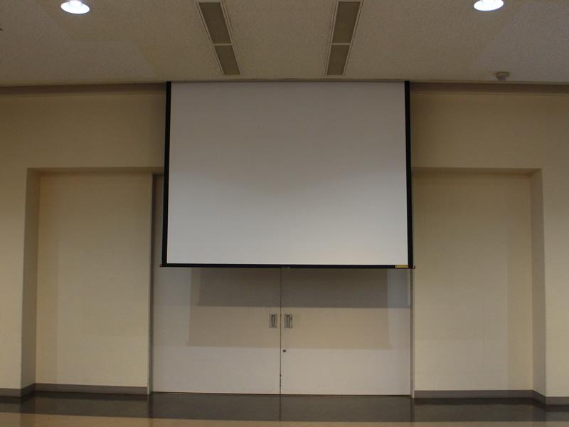 ホール貸会議室電動スクリーン