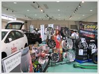 モーターショーや車などの大型品の展示も可能なNOCホール使用例3