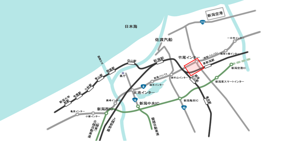 新潟卸センター広域地図